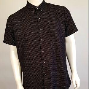 Button Down Short Sleeve Shirt XL Majesty Black
